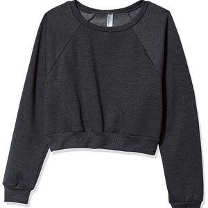 American Apparel crop sweatshirt in heather gray